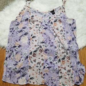 Torrid purple floral spaghetti strap top